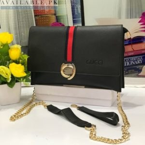 Fendi Black Cross Body Purse With Long Chain Price In Pakistan