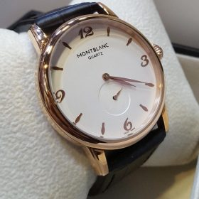 Mont Blanc Classic White Dial Golden Bezel His Watch Price In Pakistan