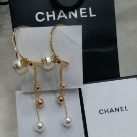 Chanel Golden Round Pearl Earring Price In Pakistan