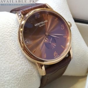 Mont Blanc Classic Brown Dial Golden Bezel His Watch Price In Pakistan