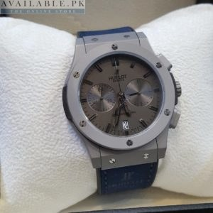 Hublot Dark Edition Blue Strap Matt Steel His Watch Price In Pakistan