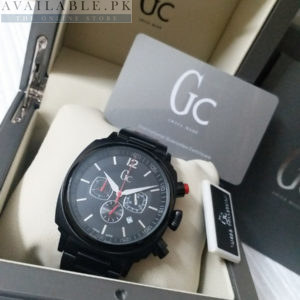 Guess Matt Black Chronograph Red Hands Watch Price In Pakistan