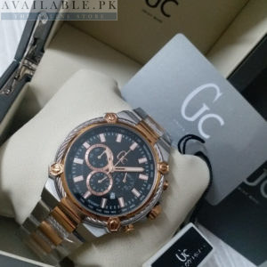 Guess Black & Golden Chronograph CableForce Watch Price In Pakistan