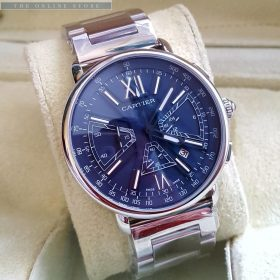 Cartier Chronograph Aviation Blue Dial Men's Watch Price In Pakistan