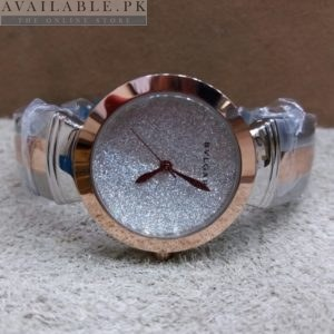 Bvlgari Spark Copper & Silver Glitter Dial Her Watch Price In Pakistan