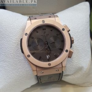 Hublot Dark Matt Rose Gold Bezel Brown Dial His Watch Price In Pakistan