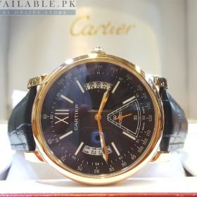 Cartier Black Dial Date & Down Second His Watch Price In Pakistan