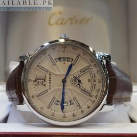 Cartier White Dial Date & Down Second His Watch Price In Pakistan