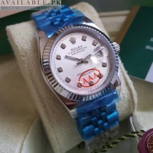 Rolex Date Just Automatic Swiss Machine White Dial 38mm Size Price In Pakistan