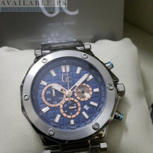 Guess GC Silver Titanium Blue Dial Chronograph Watch Price In Pakistan