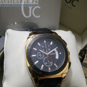 Guess Gc Chrome Black & Golden Chronograph Men Watch Price In Pakistan
