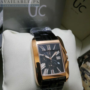 Guess Gc Square Shaped Chrome Golden Bezel Men Watch Price In Pakistan