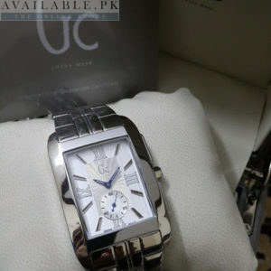Guess Square Shaped Chrome Body White Dial Men Watch Price In Pakistan