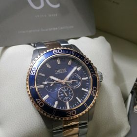 Guess Blue Ring Stainless Chronograph Men Watch Price In Pakistan