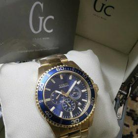 Guess Gc Golden Body Blue Dial Chronograph Men Watch Price In Pakistan