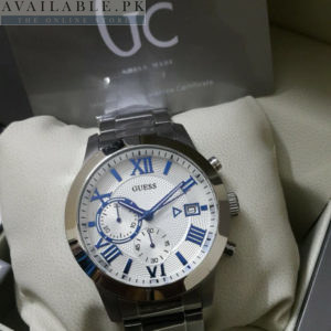 Guess Gc White Dial Blue Roman Digits Stainless Men Watch Price In Pakistan