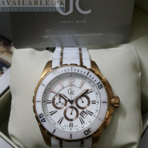 Guess Gc Sport Class XXL Ceramic White Copper Men Watch Price In Pakistan