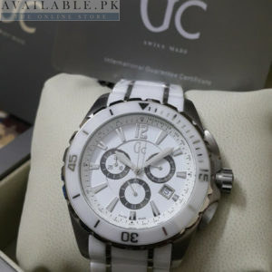 Guess Gc Sport Ceramic White XXL Chronograph Men Watch Price In Pakistan