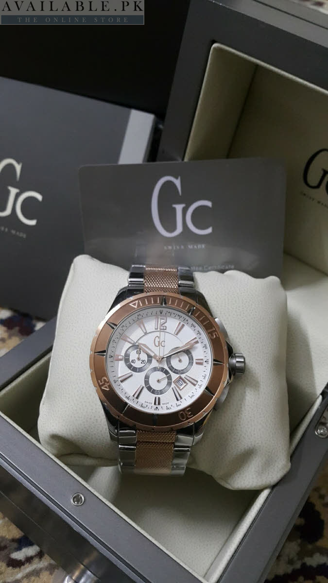 d66e583c0ac Guess Gc Sport Class Copper Silver XXL Men Watch
