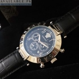 Versace Revive Mother Of Pearl Black Dial Chronograph Watch Price In Pakistan