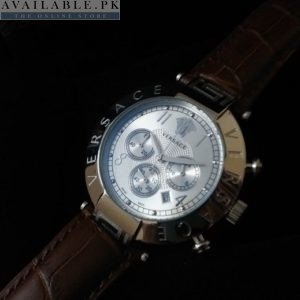 Versace Revive Mother Of Pearl Silver Dial Chronograph Watch Price In Pakistan