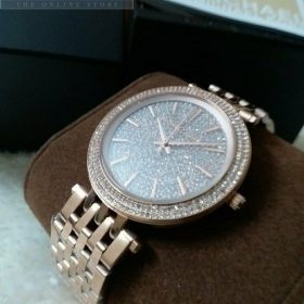 Michael Kors Camille Rose Gold Crystals Pave Her Watch