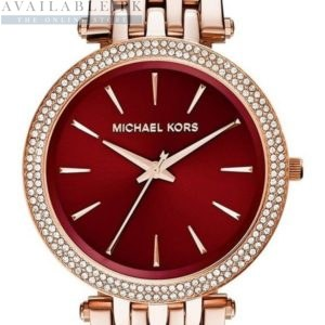 Michael Kors Darci Red Swarovski Dial Watch MK3378 Price In Pakistan