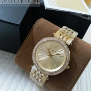 Michael Kors 3 Tone Strap Pearl White Dial Her Watch Price In Pakistan