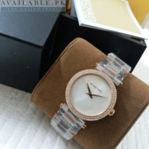 Michael Kors Darci White Dial Dual Tone Her Watch Price In Pakistan