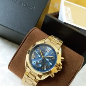 Michael Kors Blue Dial Golden Men's Watch MK-5798 Price In Pakistan