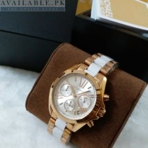 Michael Kors Pearl White Dial Golden Men's Watch MK-5799 Price In Pakistan