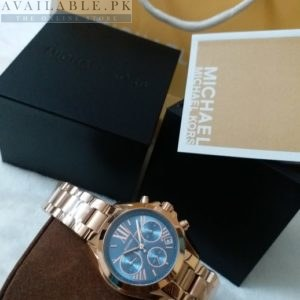 Michael Kors Blue Dial Copper Chain His Watch MK-5799 Price In Pakistan