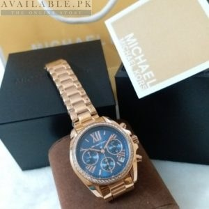 Michael Kors Blue Dial Golden Watch MK-5799 Price In Pakistan