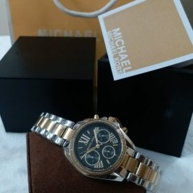 Michael Kors Black Dial Dual Tone His Watch MK-5798 Price In Pakistan