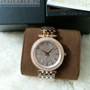 Michael Kors Camille Rose Gold Pink Crystals Pave Her Watch Price In Pakistan