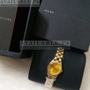 Marc Jacobs Mini Amy Dual Tone Yellow Dial Watch Price In Pakistan