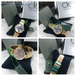CK Silver Dial Golden Chain Her Watch Price In Pakistan