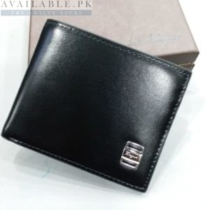 Mont Blanc Pure Black With Side Logo Men's Wallet Price in Pakistan