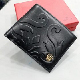 Rolex Black Embossed Men's Wallet Price in Pakistan