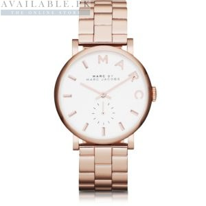 Marc Jacobs Baker White Golden Women's Watch Price In Pakistan