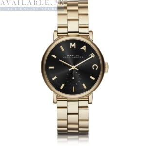 Marc Jacobs Baker Black Golden Women's Watch Price In Pakistan