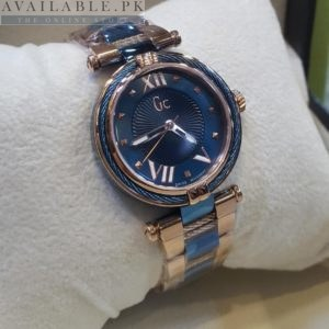 GC Blue Vista Dual Tone Roman Figure Her Watch Price In Pakistan