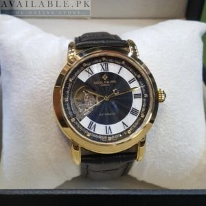 Patek Philippe Open Heart Golden Black Belt His Watch Price In Pakistan