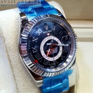 Rolex Sky Dweller Stainless Silver Black Dial His Watch Price In Pakistan
