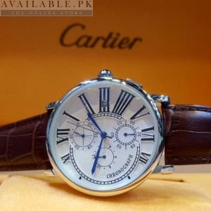 Cartier White Dial Chronograph His Watch Price In Pakistan