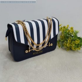Michael Kors Stripped Navy Blue And White Her Handbag