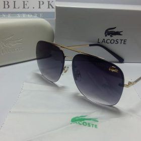 Lacoste Retro Squared Dual Black Thin Frame Sunglasses Price In Pakistan