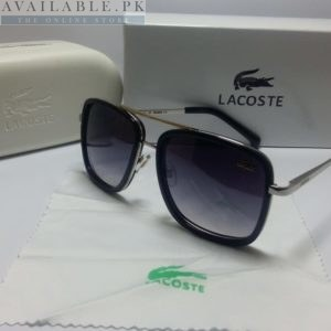 Lacoste Retro Squared Dual Black Silver Frame Sunglasses Price In Pakistan