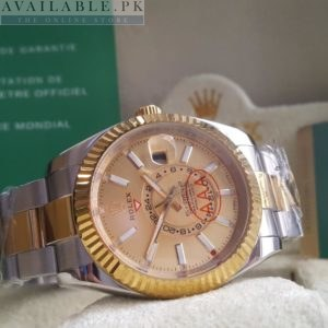 Rolex Sky Dweller Fluted Bezel Double Time His Watch Price In Pakistan
