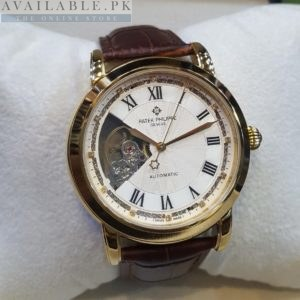 Patek Philippe Open Heart Golden White Belt His Watch Price In Pakistan